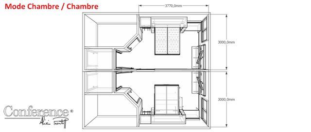 Am nagement modulaire de chambres h tellerie restauration - Amenagement d une chambre ...