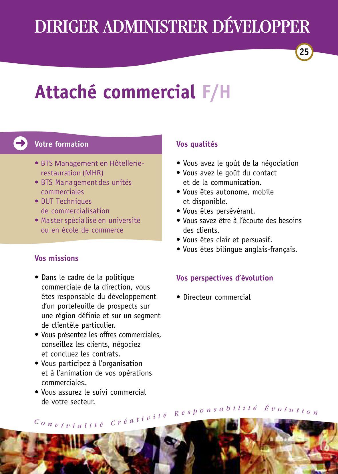 Fiches des métiers Hôtellerie-Restauration - Hôtellerie-Restauration Portfolio