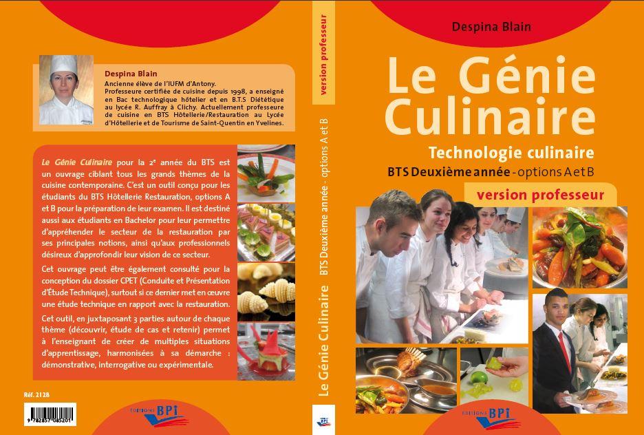 Le Genie Culinaire Technologie Culinaire Hotellerie Restauration